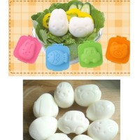Jual Cartoon Rabbit and Bear Egg Rice Cake Mold / Cetakan Telur Murah