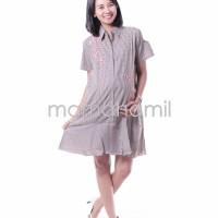 Jual Baju Hamil Dress Hamil Menyusui Salur Bunga Sakura Modis DRO 840 Murah
