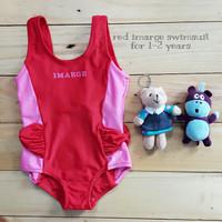 Jual PROMO Jual baju renang anak cewek (red imarge swimsuit) murah Murah