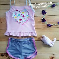 Jual PROMO Jual baju renang anak cewek (lovely heart swimsuit) murah Murah