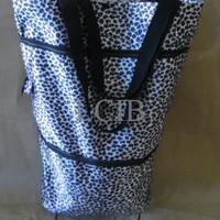 Jual gold/silver trolley bag shopping tas roda lipat foldable trolly keren  Murah