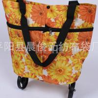 Jual Colorfull Trolley bag shopping tas roda lipat foldable trolly belanja  Murah