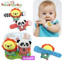 Rattle Gelang Mainan Bayi Happy Monkey isi 2