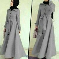 Jual Hijab Baju Muslim Maxi + Pashmina Pakaian Wanita Long Coat Murah