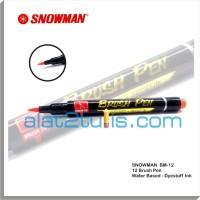 Jual Snowman Brush Pen 12 Water based Murah