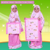 Mukena Motif Frozen Tsum Pink Color XS/ Bahan Soft Comfy/ Tidak Luntur