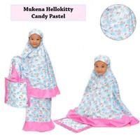 Mukena Karakter Hello Kitty Candy Pastel Size XS Desain Unik New