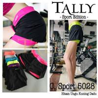 Jual PROMO Celana Sport 5028 Pendek Wanita TALLY Double Layer / 2 Lapis Murah