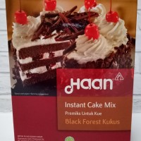 HAAN INSTANT CAKE MIX - BLACK FOREST KUKUS - PREMIKS KUE - 400GRAM NEW