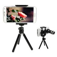 Jual Lensa Tele 8X Zoom + Tripod Mini Untuk Smartphone Murah