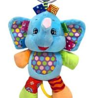 Jollybaby - mainan boneka tarik musik bayi - Elephant