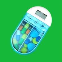 Jual KP004 Kotak Obat Bunyi Pengingat Set Waktu Medicine Box W/ Timer Alarm Murah