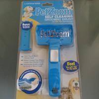 Jual PROMO Pet Zoom Self Cleansing - Sisir Kucing Anjing Murah