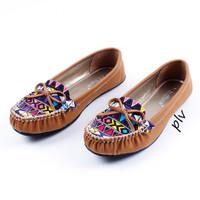 Jual DISKON Sepatu Flat Shoes Flatshoes Wanita Etnik Gratica RJ43 Tan Murah