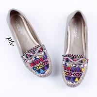Jual PROMO Sepatu Flat Shoes Flatshoes Wanita Etnik Gratica RJ43 Abu Murah