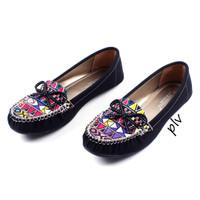 Jual Termurah Sepatu Flat Shoes Flatshoes Wanita Etnik Gratica RJ43 Hitam Murah
