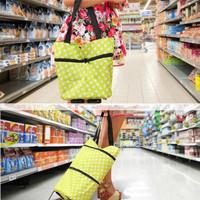 Jual PROMO POLKA DOT Tas Troli 02 Lipat Troly Shopping Foldable Trolley Bag Murah