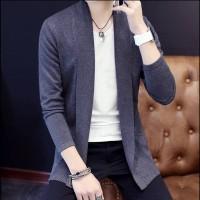 Sweater Blazzer Pria Korea Cotton Rajut Halus Kualitas Top