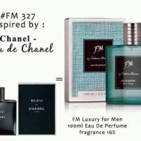 Parfume Fm original Luxury For man kode 327 bleu de chanel 100ml