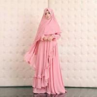 original Syari Bergo Serena Pink / gamis muslimah premium butik