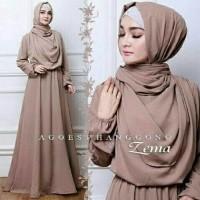 original hijabv Syari Wolfis ZEMA Layer/ gamis / dress kaftan muslimah