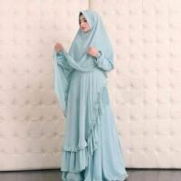 original Syari Bergo Serena Blue / gamis muslimah premium butik