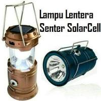 Jual Lampu Emergency Lentera Tarik ( Senter + Power Bank) Solar Cell  Murah Murah