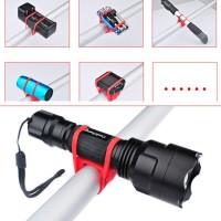 Jual Silicone Strap Bike Bracket Mount Holder Flashlight Senter Sepeda  Murah