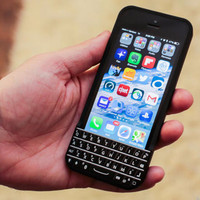 Jual Typo QWERTY Blackberry Keyboard Bluetooth Case Casing iPhone 5 / 5s MU Murah