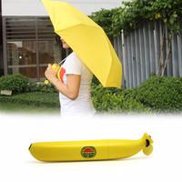 Jual Payung Lipat Design Cute Pisang Banana Umbrella UV Protection Kuning M Murah
