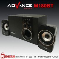 Jual Speaker Advance Aktif Portable M180BT Bluetooth Subwoofer BASS -T398 Murah