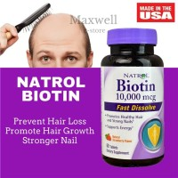 Natrol, Biotin Fast Dissolve 10,000 mcg, 60 Tablets Strawberry Flavor
