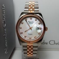 Jam Tangan Pria Alexandre Christie AC8463MD Elegance Silver Rosegold