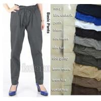 Basic Pants, Celana Wanita Katun Stretch