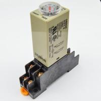 Jual Delay Timer 8 Pin Relay+Socket Base 12v-10sec Murah