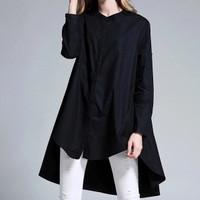 Jual Trendy Oversized Black Blouse Murah