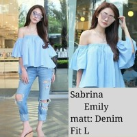 DP- Sabrina Emily DENIM 40.000 Bahan denim fit L