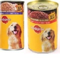 Jual pedigree chicken / beef 1,15kg makanan anjing basah kalengan dogfood Murah