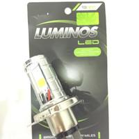 [LAMPU MOTOR] Lampu LED Luminos H4 Hi Low 2 sisi Terang PnP