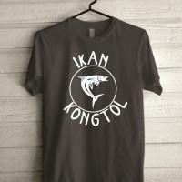 Kaos Tshirt Baju Combed 30S Ikan Kongtol Tongkol Kont*l Grade Ori