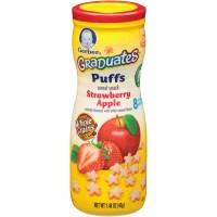 Jual Gerber Graduates Puffs Cereal snack Strawberry apple Murah