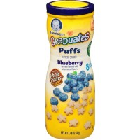 Jual Gerber Graduates Puffs Cereal snack Blueberry Murah