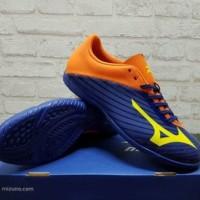 Sepatu Futsal Mizuno Basara 103 Navy Orange P1GF 176454 Original