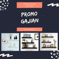 Jual Promo Rak Dinding 1 Set @40,30,20 Lebar 12 cm Promo khusus Hari Ini !! Murah