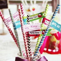 Jual Paper Straw ZigZag colorful Murah