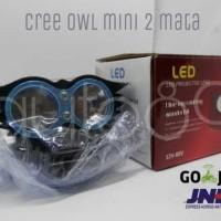 Cree OWL mini 2 mata lampu tembak LED burung hantu ultrafire 30W 12V