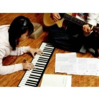 mainan edukasi musik keyboard piano 61 keys portable roll up MIDI