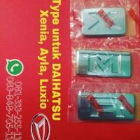 Emblem type M X R untuk daihatsu xenia luxio ayla sigra