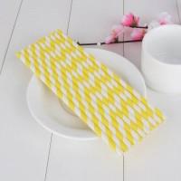 Jual Paper Straw Stripe Yellow Murah