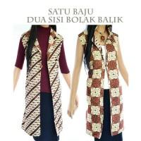 Jual Jas Panjang Batik Bolero Tunik Long Cardigan Batik Sisi Bolak Balik Murah